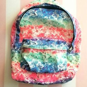 VS PINK floral fabric backpack